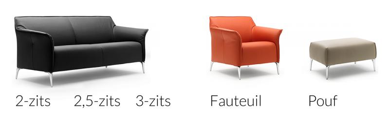 Leolux meubel Mayon - 2-zit, 2.5 zit, 3-zit en poef