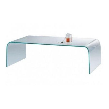 Rechthoekige Glazen Tafel.Salontafel Ponte In Glas Design Salontafels De Canapee