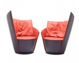 combi leder larido 89 : leder larido 21 - fauteuil 60 rug asym. links combi A + fauteuil 60 rug asym. rechts combi A
