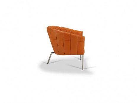 leder lotila mango - fauteuil reepjes chroom hoogglans 2